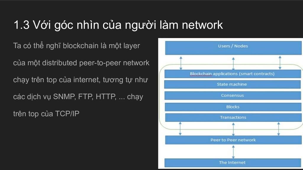 1.3 Với góc nhìn của người làm network Ta có th...