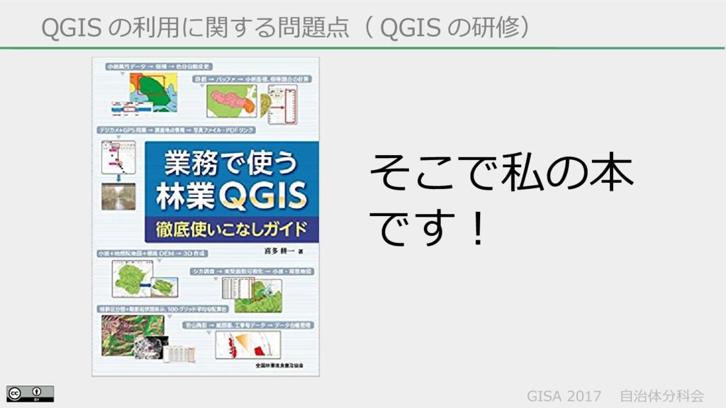 GISA 2017  自治体分科会  QGIS の利用に関する問題点( QGIS の研修) そ...