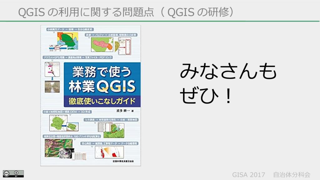 GISA 2017  自治体分科会  QGIS の利用に関する問題点( QGIS の研修) み...
