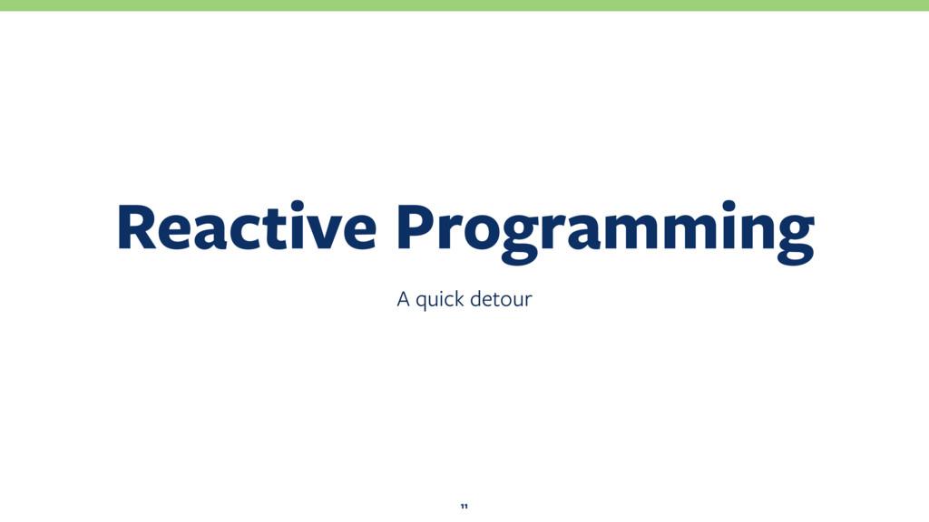 A quick detour Reactive Programming 11