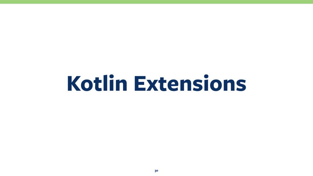 Kotlin Extensions 30