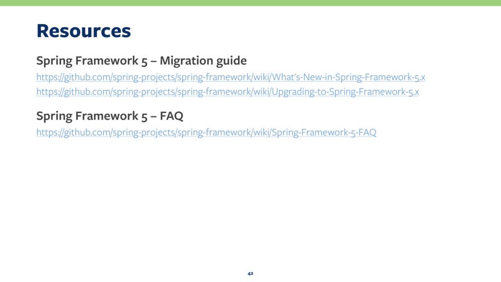 Resources Spring Framework 5 – Migration guide ...