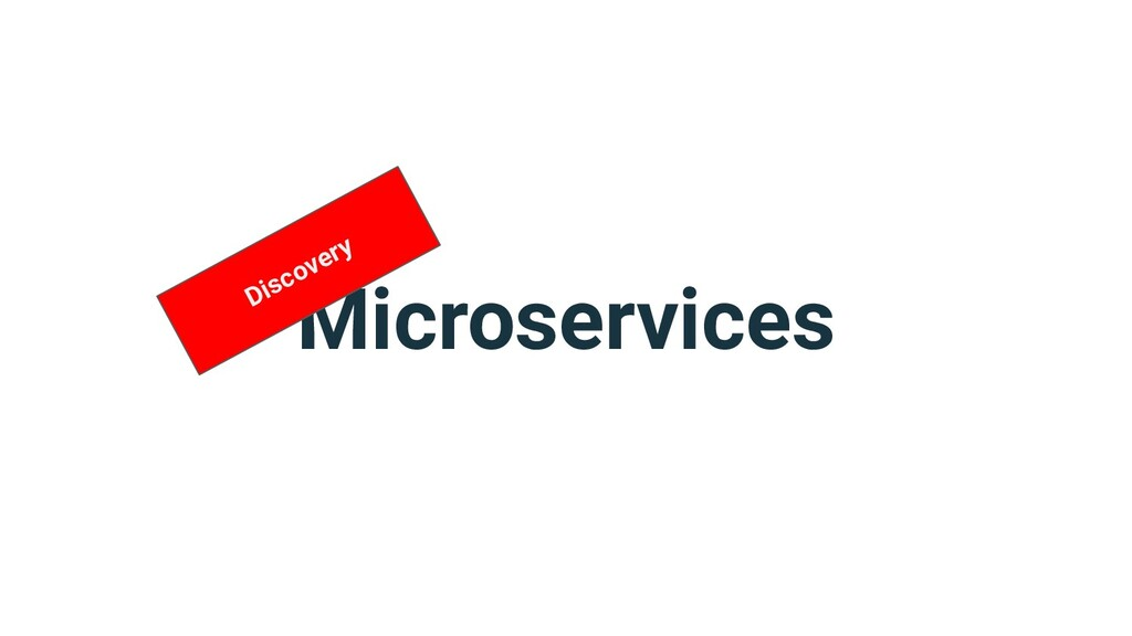 Microservices Discovery