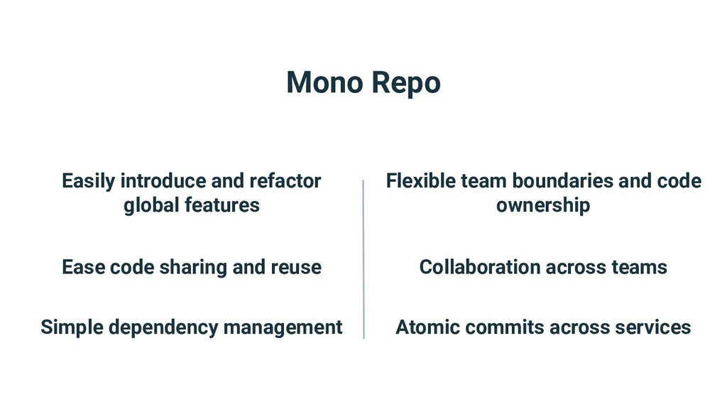 Mono Repo Easily introduce and refactor global ...