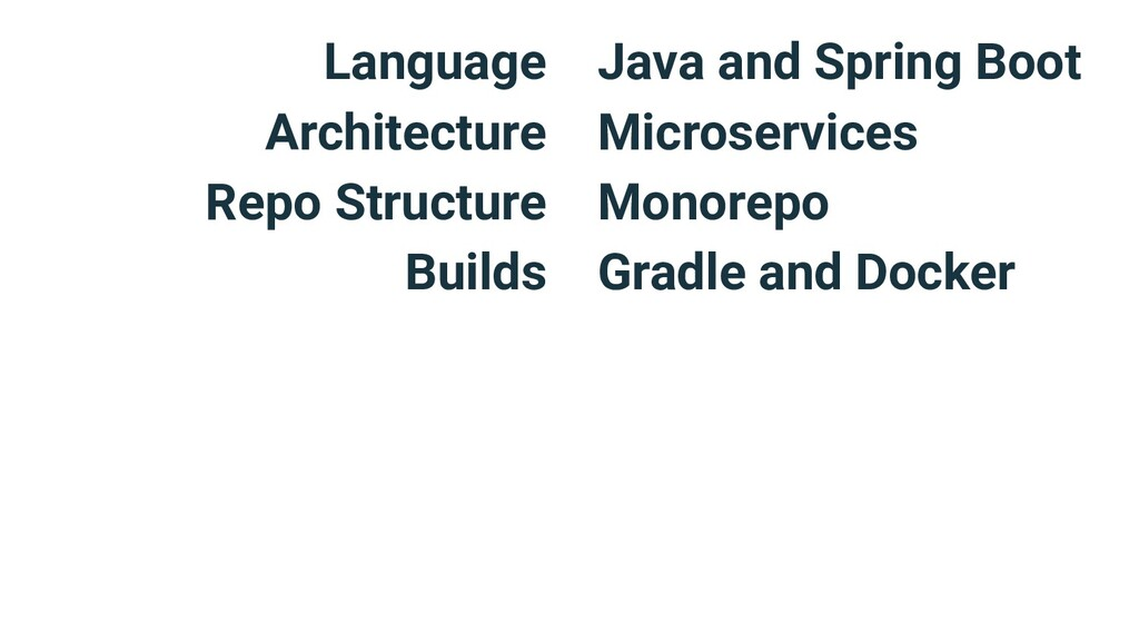 Language Architecture Repo Structure Builds Jav...