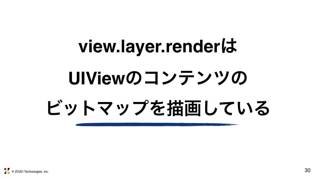 © ZOZO Technologies, Inc. 30 view.layer.render...