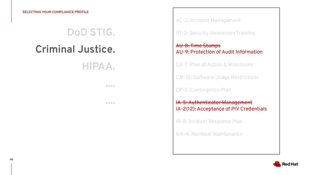 DoD STIG. Criminal Justice. HIPAA. .... .... AC...