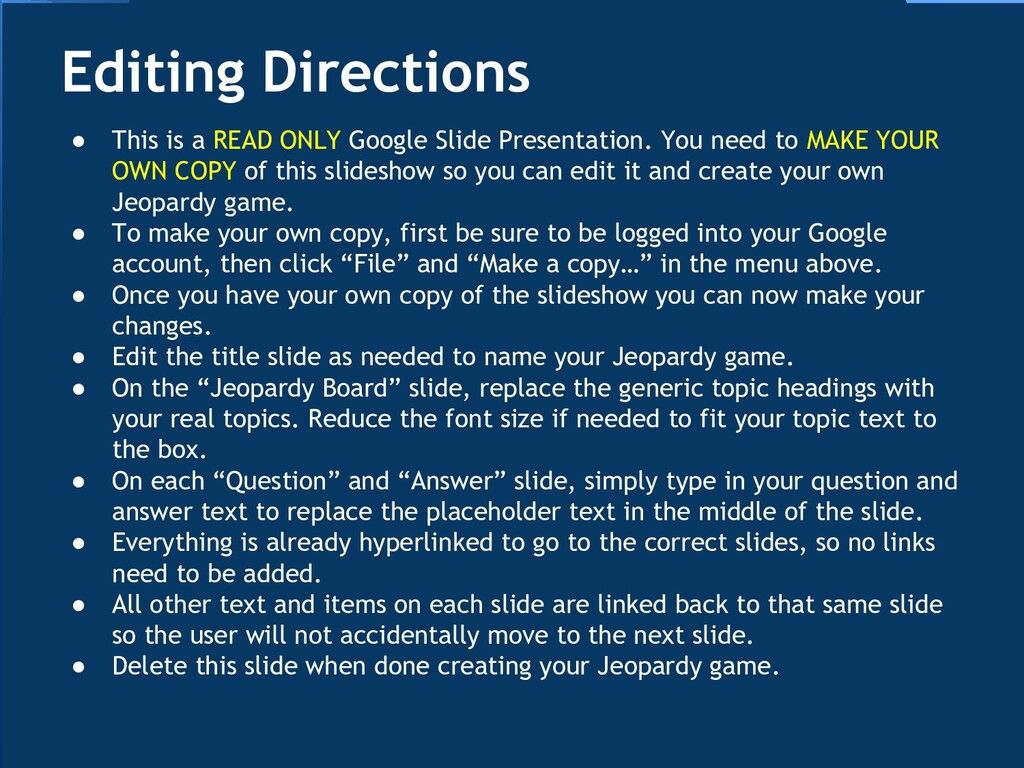 ● This is a READ ONLY Google Slide Presentation...
