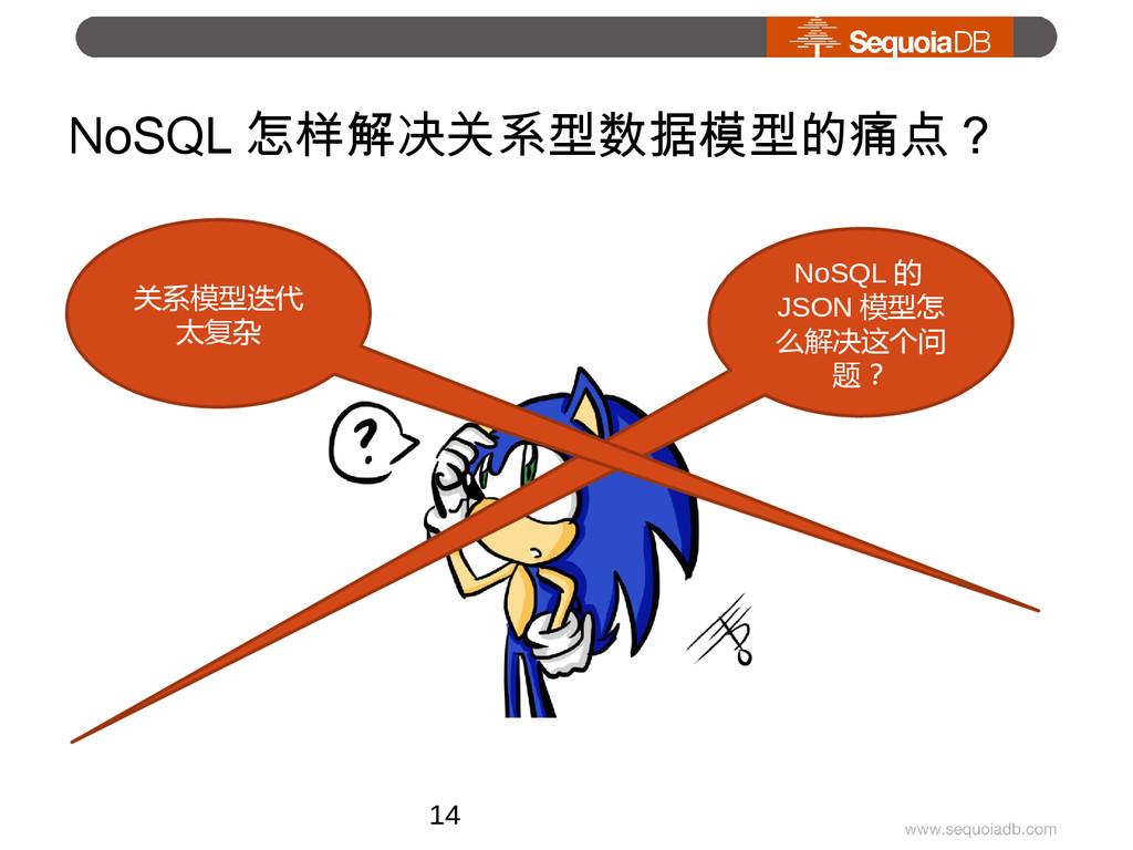 NoSQL 怎样解决关系型数据模型的痛点? NoSQL 的 JSON 模型怎 么解决这个问 题...