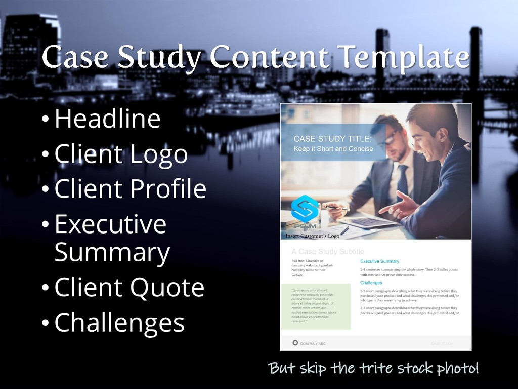 •Headline •Client Logo •Client Profile •Executi...
