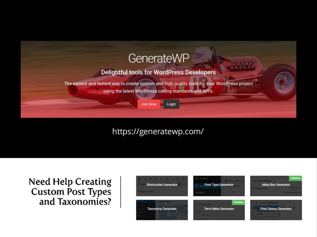 https://generatewp.com/