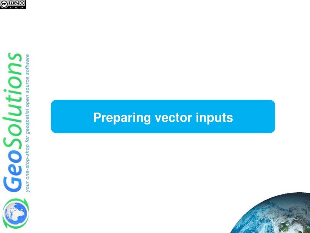 Preparing vector inputs
