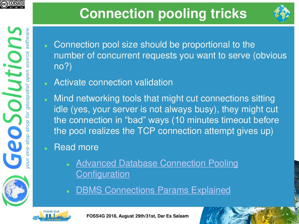 Connection pooling tricks ⚫ Connection pool siz...