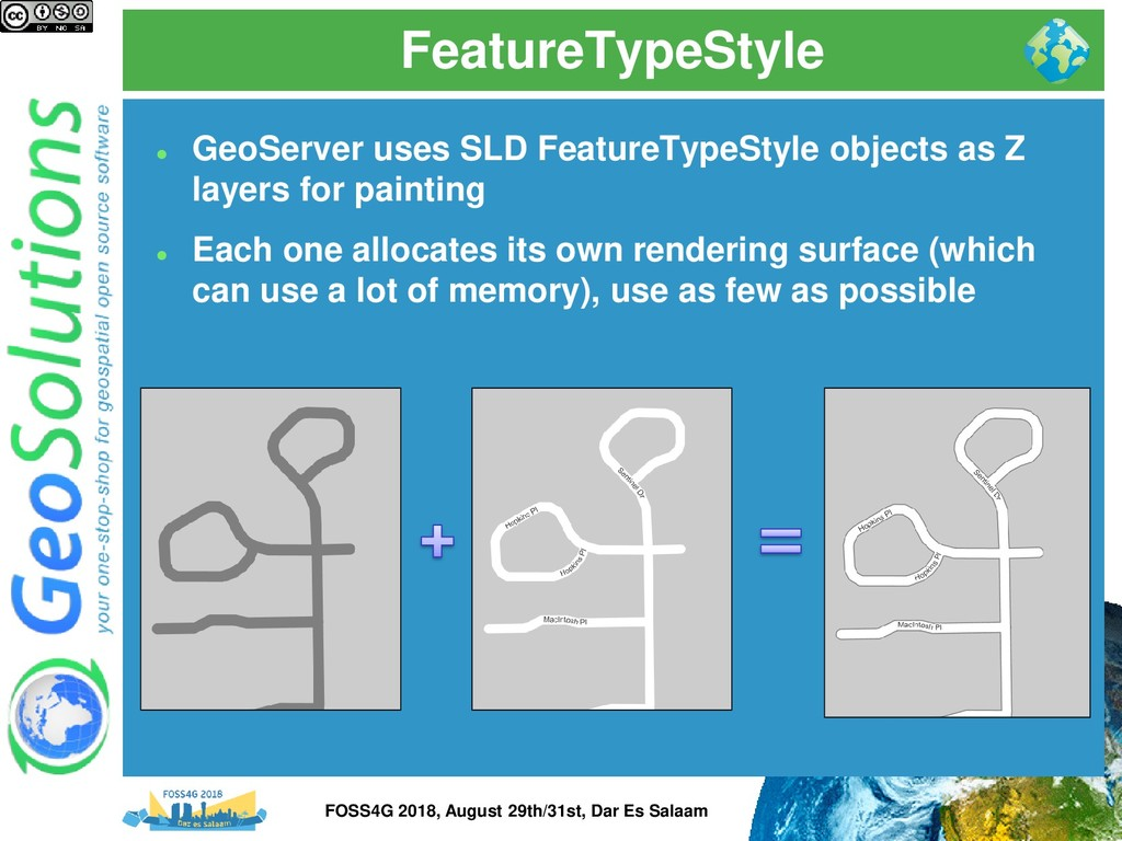 FeatureTypeStyle ⚫ GeoServer uses SLD FeatureTy...