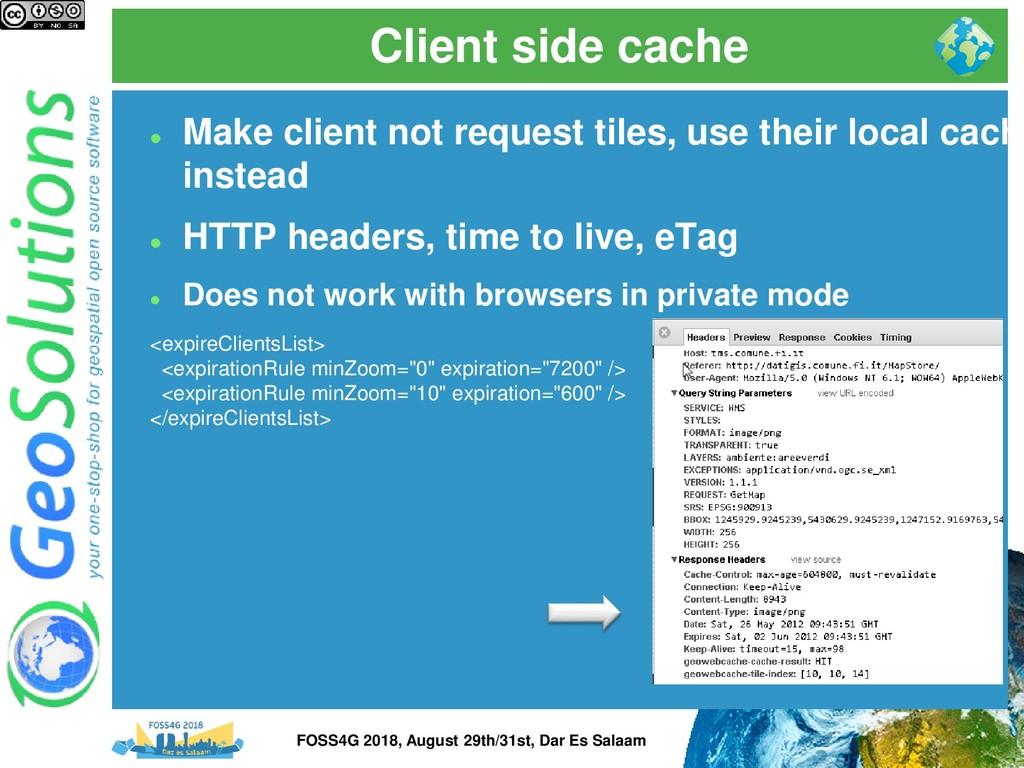Client side cache ⚫ Make client not request til...