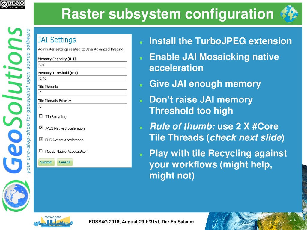 Raster subsystem configuration ⚫ Install the Tu...