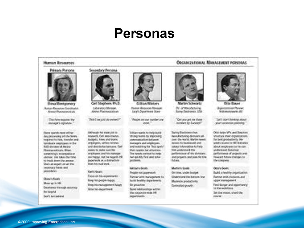 ©2009 Improving Enterprises, Inc. Personas