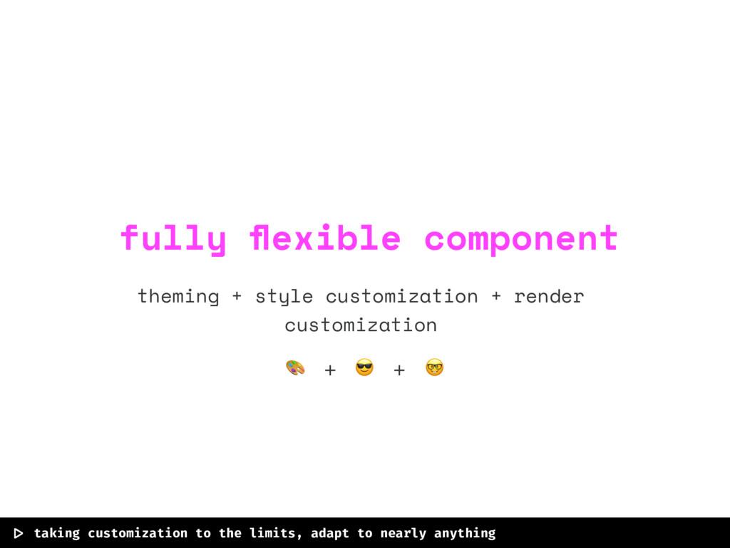 theming + style customization + render customiz...