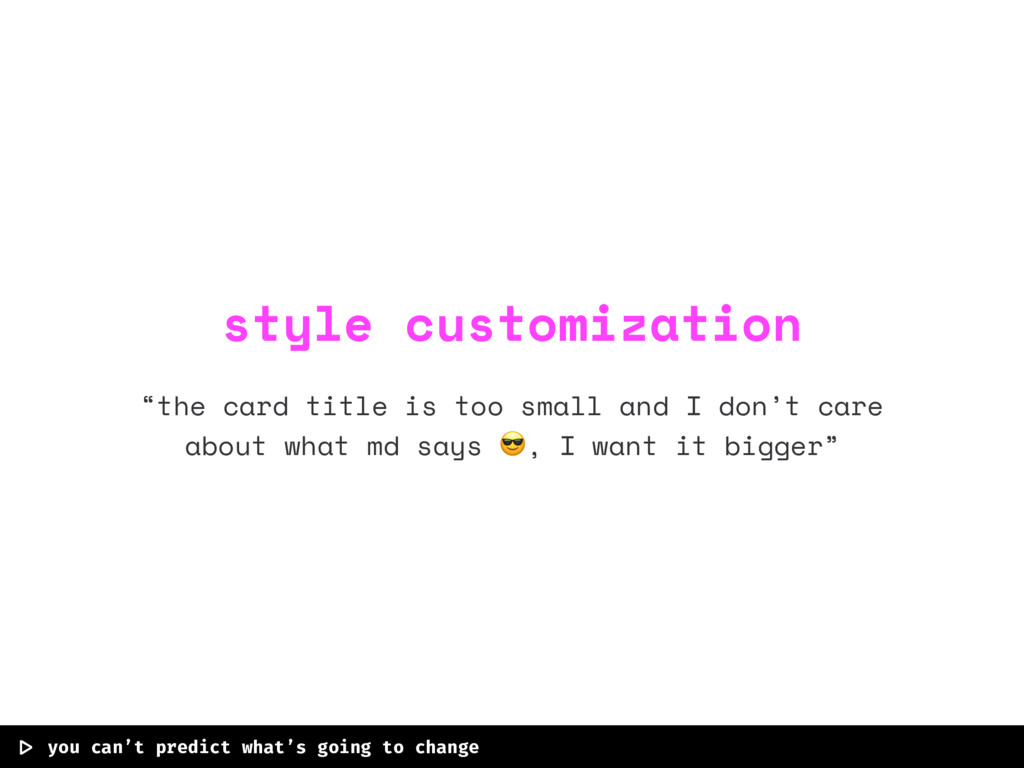"""""""the card title is too small and I don't care a..."""