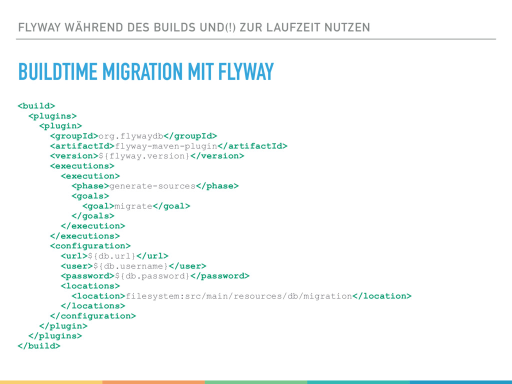 FLYWAY WÄHREND DES BUILDS UND(!) ZUR LAUFZEIT N...