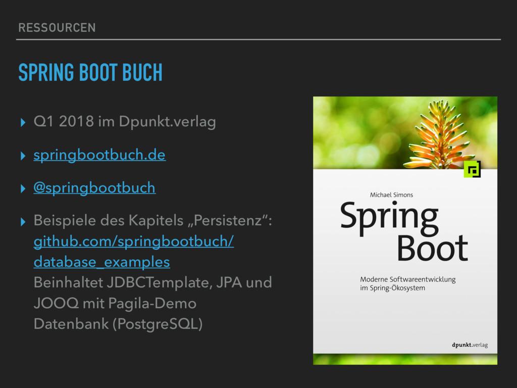 RESSOURCEN SPRING BOOT BUCH ▸ Q1 2018 im Dpunkt...
