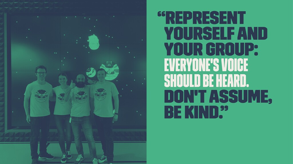 """Represent yourself and your group: everyone's ..."