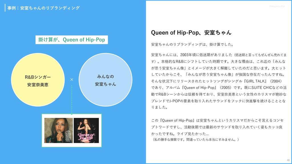 事例:安室ちゃんのリブランディング Queen of Hip-Pop、安室ちゃん 安室ちゃんの...