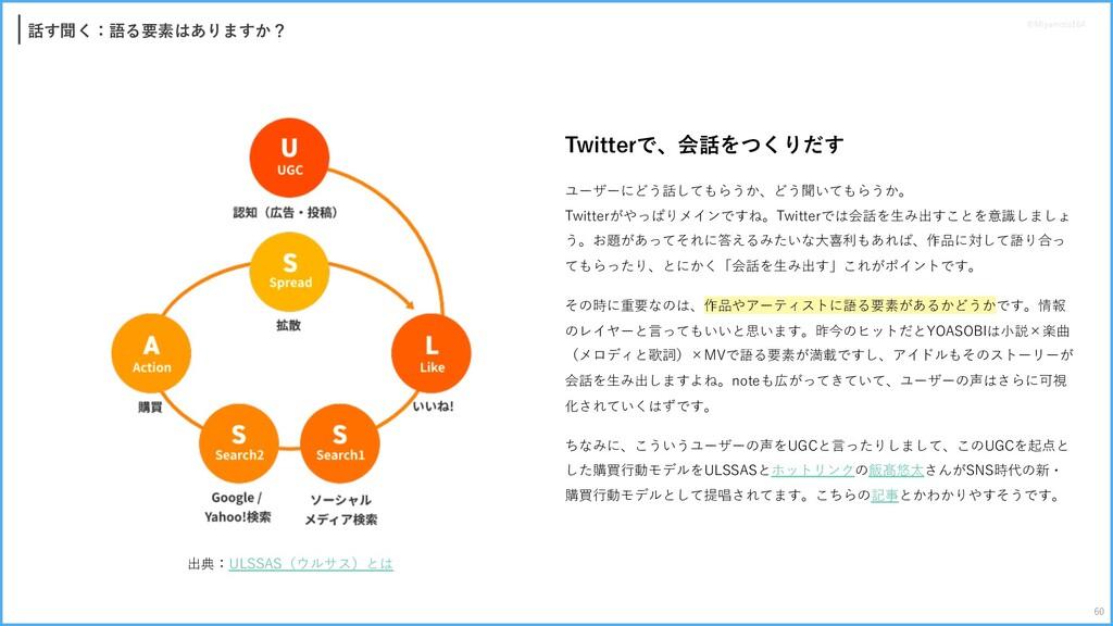 話す聞く:語る要素はありますか? Twitterで、会話をつくりだす ユーザーにどう話してもら...