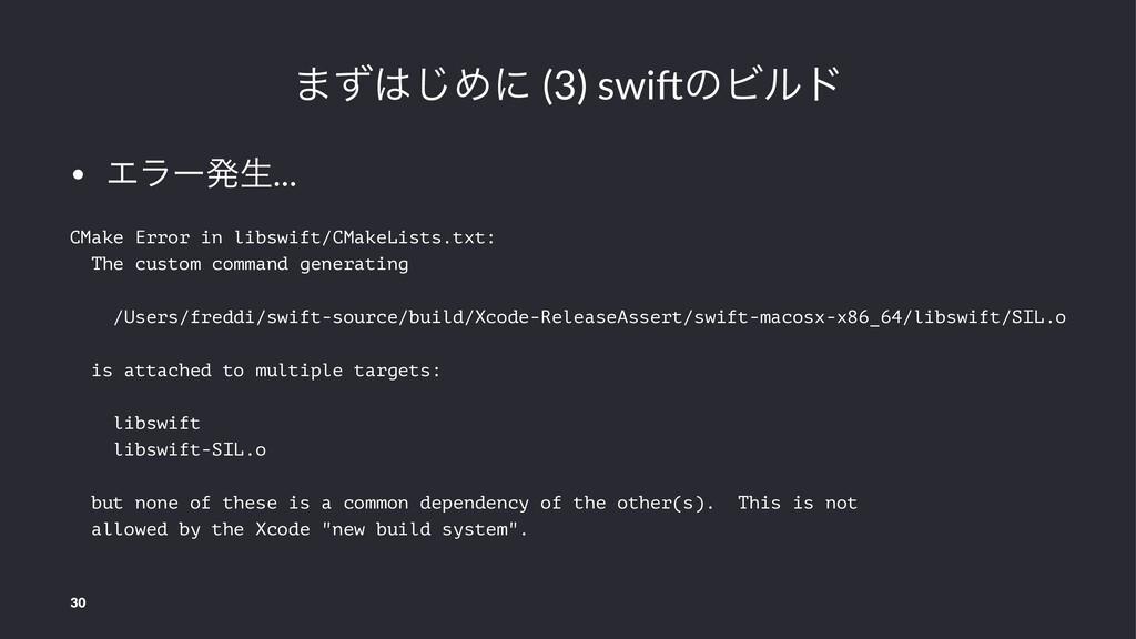 ·ͣ͡Ίʹ (3) swi(ͷϏϧυ • Τϥʔൃੜ... CMake Error in l...