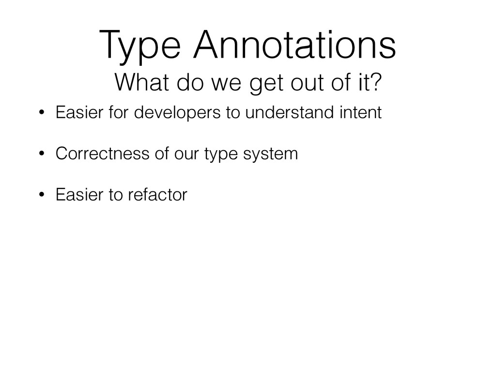 Type Annotations