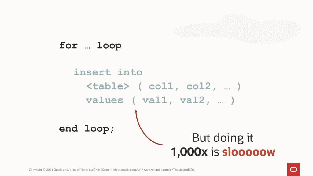 for … loop om asdf asdf asdf asdf end loop; ins...