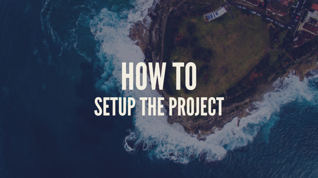 HOW TO SETUP THE PROJECT