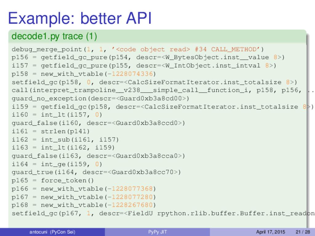 Example: better API decode1.py trace (1) debug_...