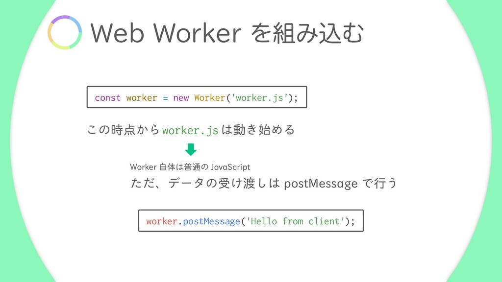 8FC8PSLFSΛ૊ΈࠐΉ const worker = new Worker('wor...