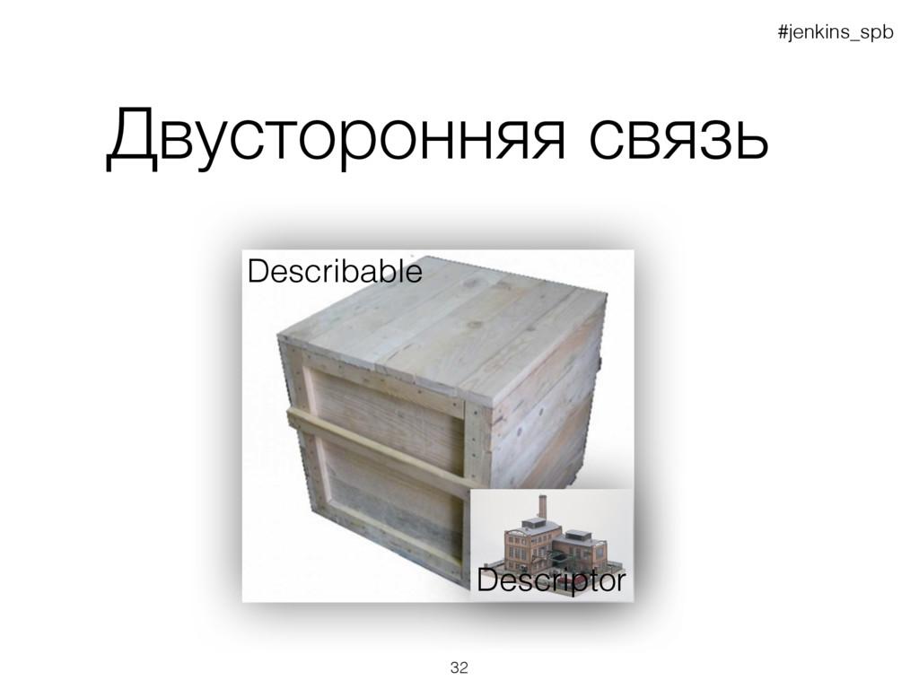 Двусторонняя связь Describable Descriptor #jenk...