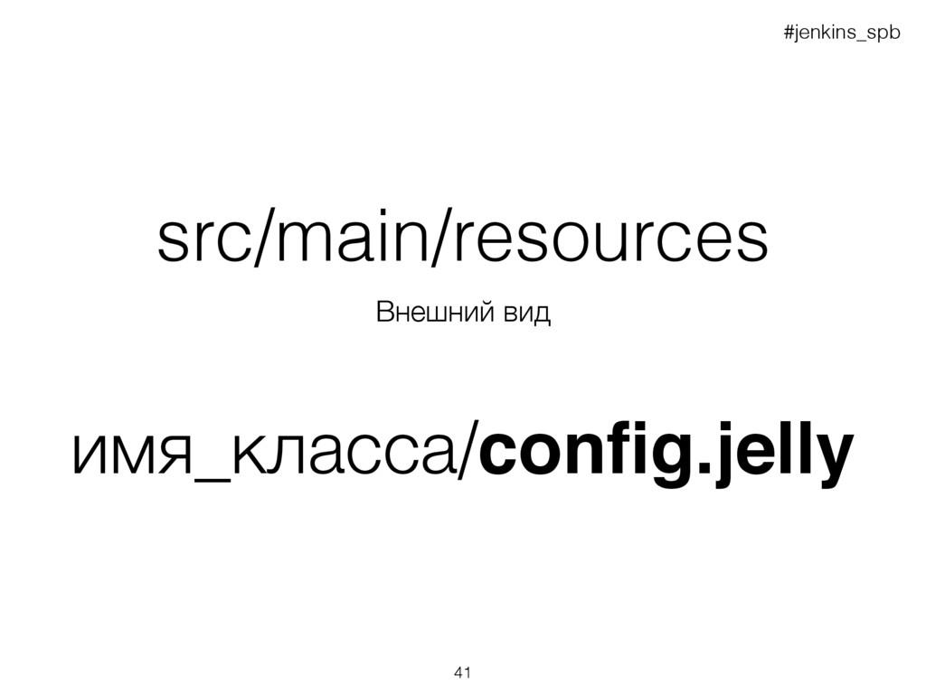 Внешний вид src/main/resources имя_класса/config...
