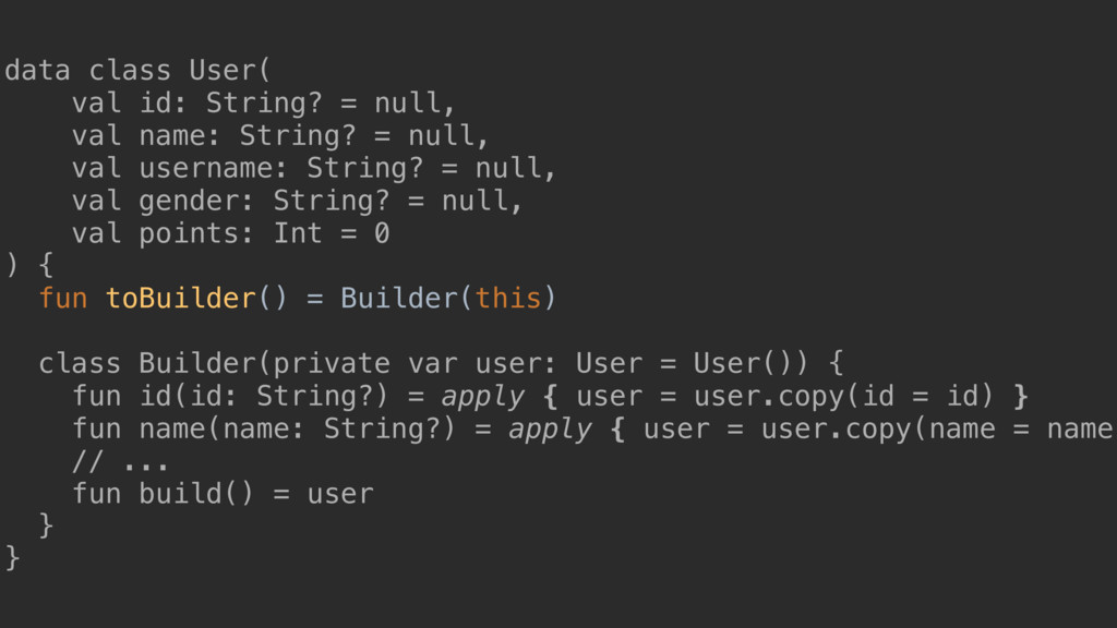 data class User( val id: String? = null, val na...