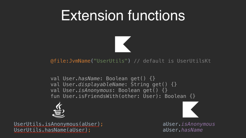 Extension functions UserUtils.isAnonymous(aUser...