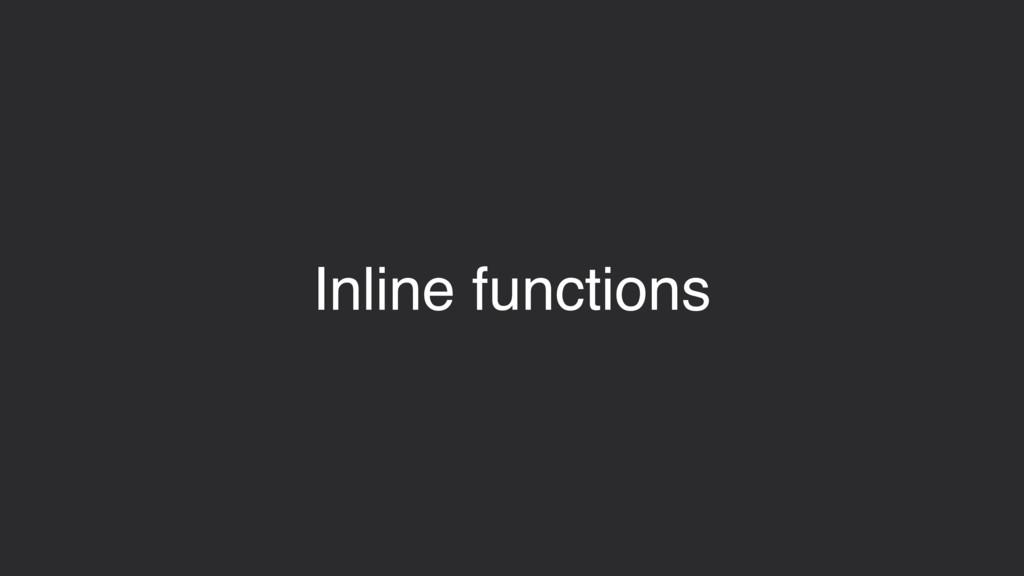 Inline functions