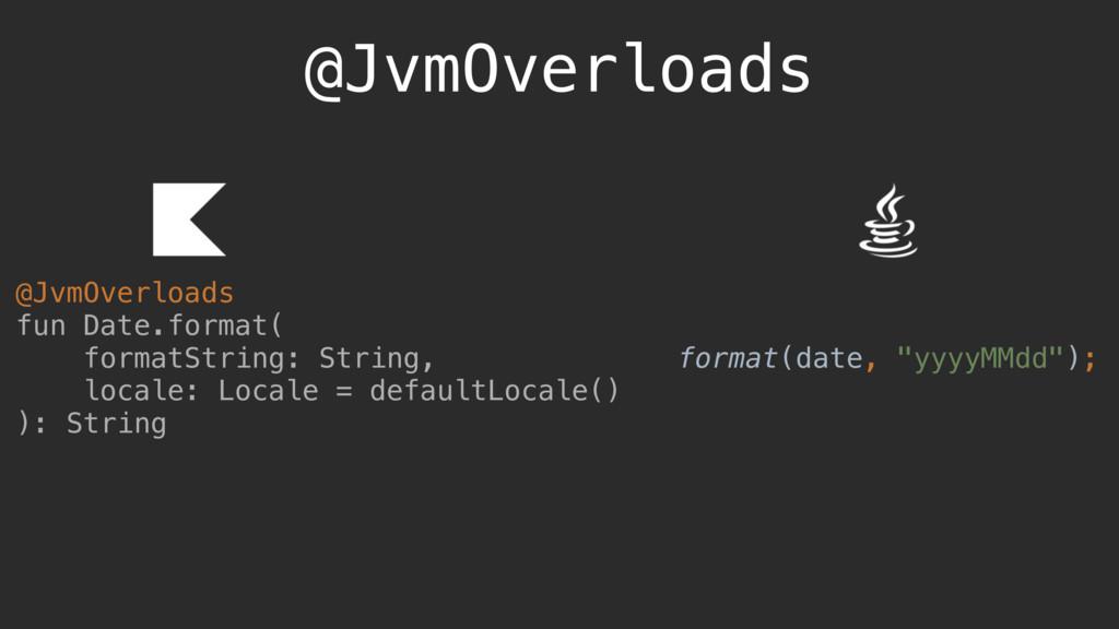 @JvmOverloads @JvmOverloads fun Date.format( fo...