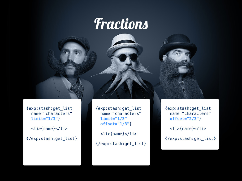 "Fraction {exp:stash:get_list name=""characters"" ..."