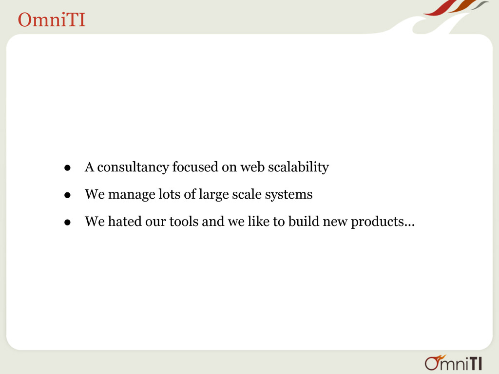 OmniTI • A consultancy focused on web scalabili...
