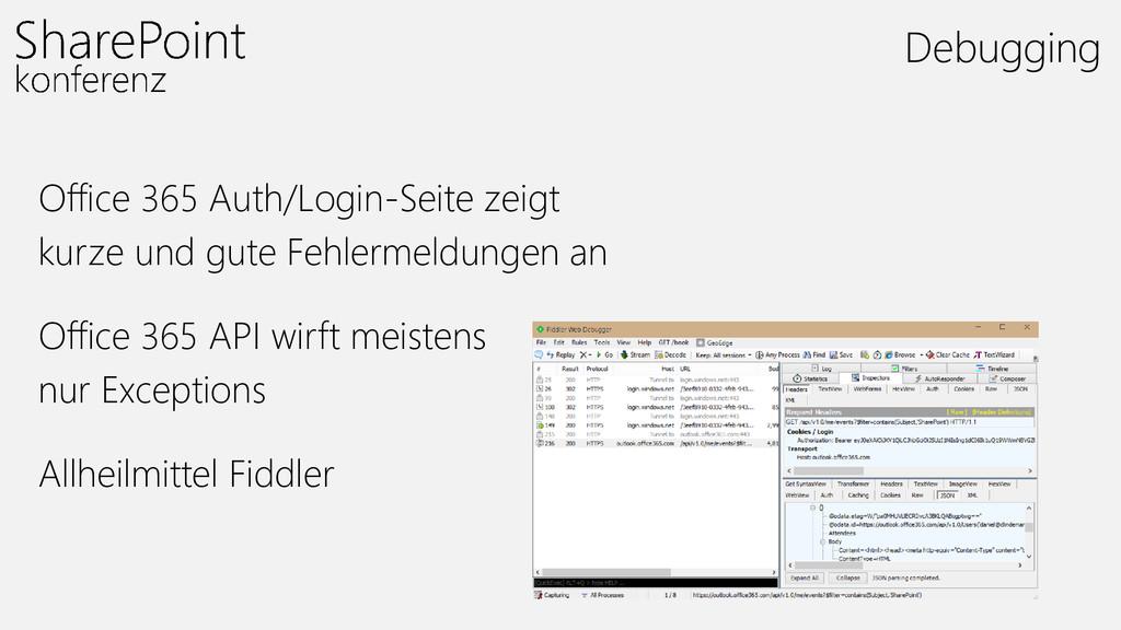 Office 365 Auth/Login-Seite zeigt kurze und gut...