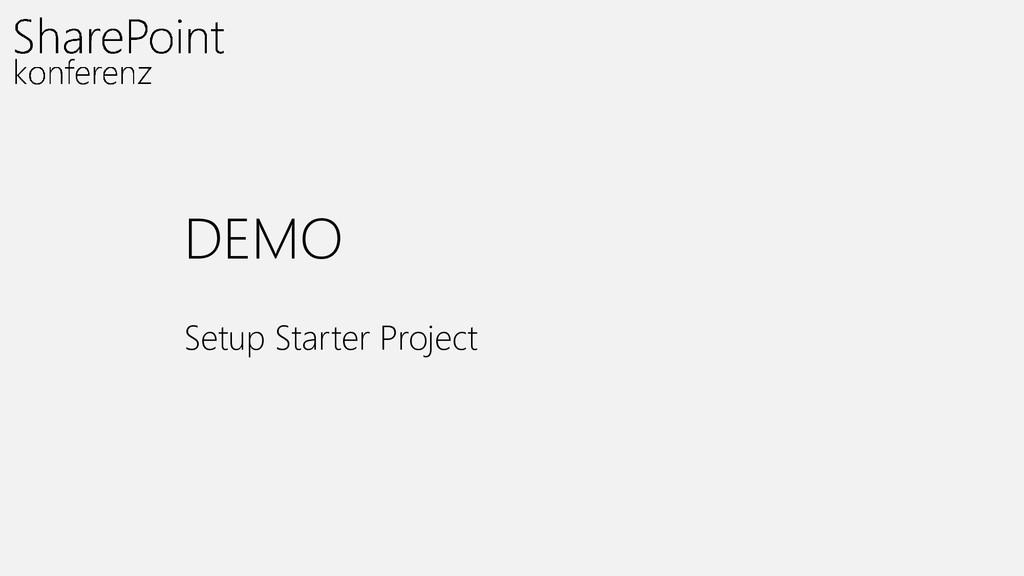 DEMO Setup Starter Project