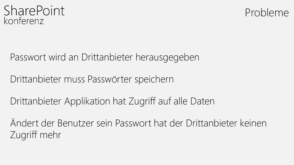 Passwort wird an Drittanbieter herausgegeben Dr...