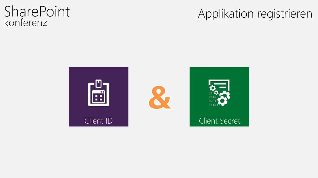 Applikation registrieren Client ID Client Secret