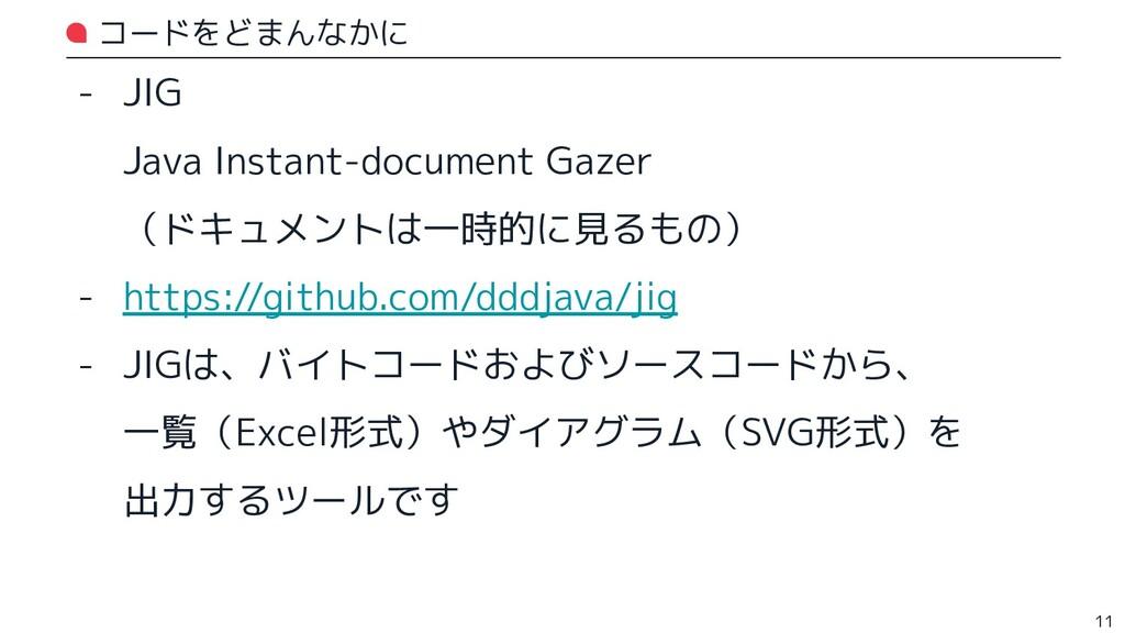 コードをどまんなかに - JIG Java Instant-document Gazer (ド...