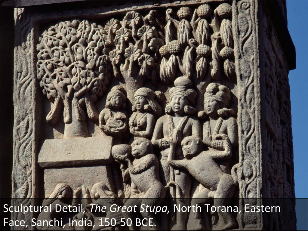 Sculptural Detail, The Great Stupa,...