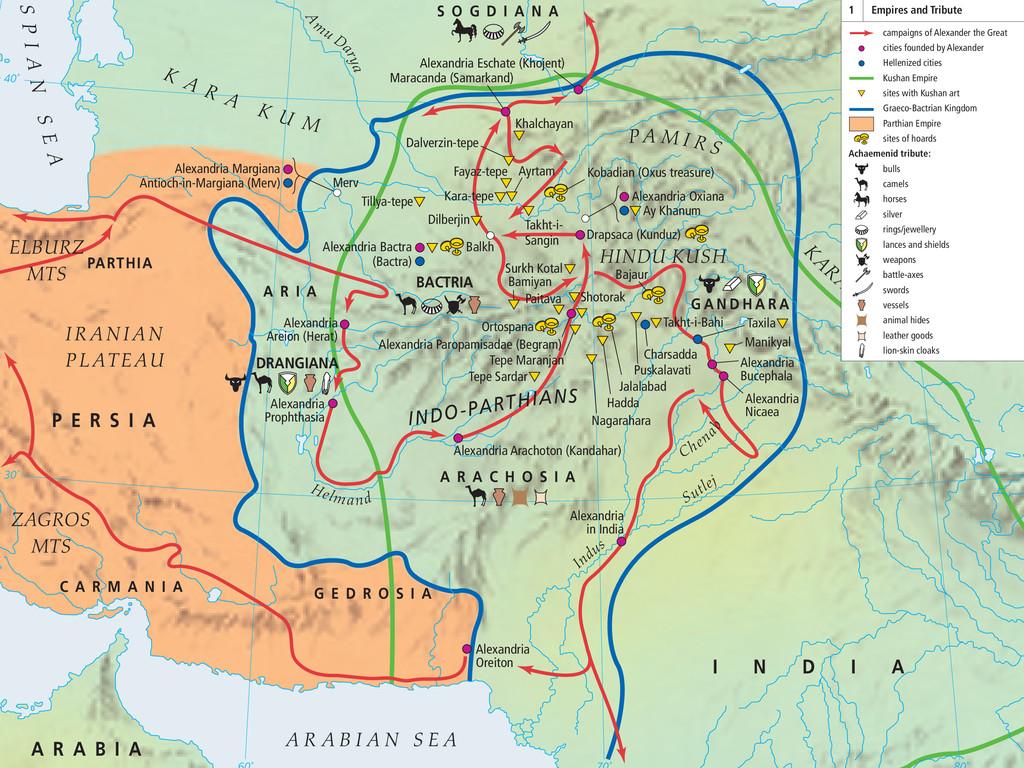 30˚ 40˚ Alexandria Areion (Herat) Alexandria Pa...
