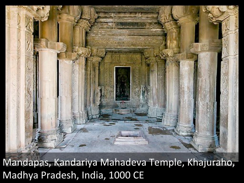 Mandapas, Kandariya Mahadeva Temple,...